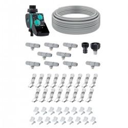 Kit HAPPY FRESH 12 m mit bewässerungscomputer Aquauno Mist