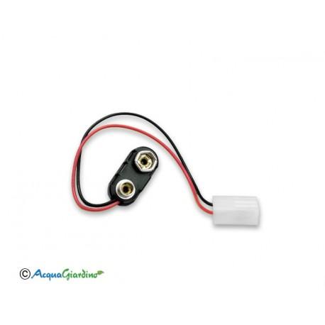 Cavetto batteria 9V serie Aquauno PLUS - Aquadue Duplo
