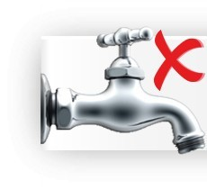 Senza necessità di un rubinetto